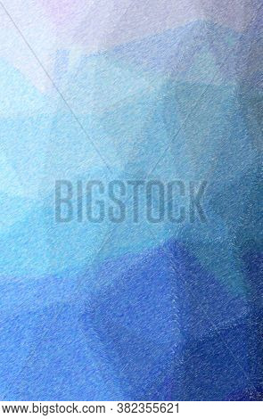 Abstract Illustration Of Blue, Purple Color Pencil High Coverage Background.