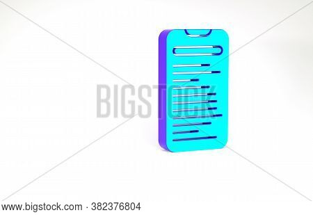 Turquoise Computer Api Interface Icon Isolated On White Background. Application Programming Interfac