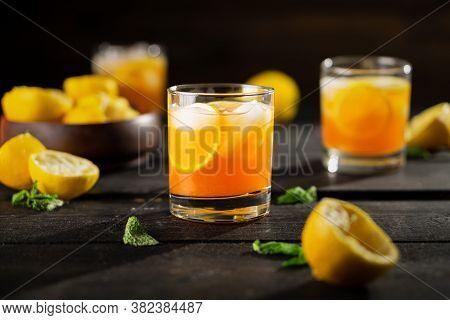 Lemon Iced Tea Drink Photo.
