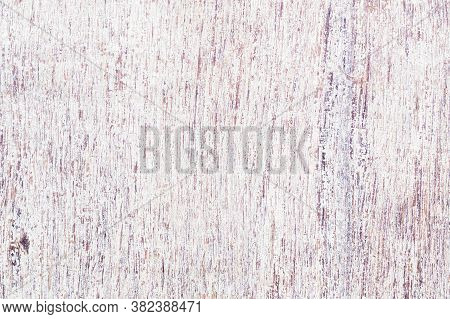 Weathered White Painted Wood Texture Vintage Background. Seamless Painted Cracked Structure. Natural