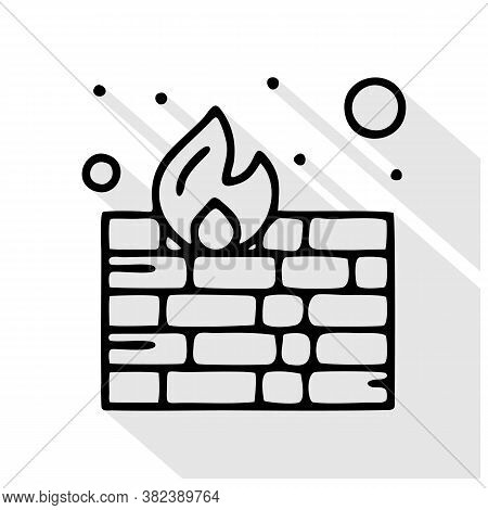 Firewalls Vector Icon. Firewalls Editable Stroke. Firewalls Linear Symbol For Use On Web And Mobile