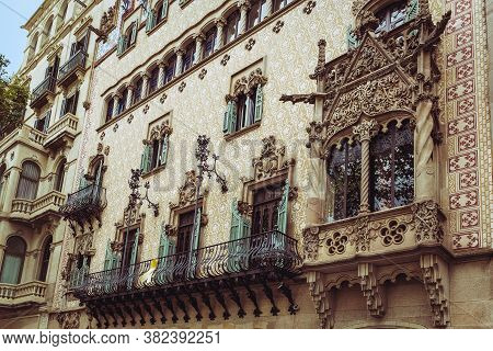 Barcelona, Spain, September 20, 2019. Architecture Of Barcelona City.