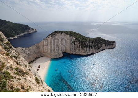 The Shipwreck Beach, Island Of Zakynthos, Greece