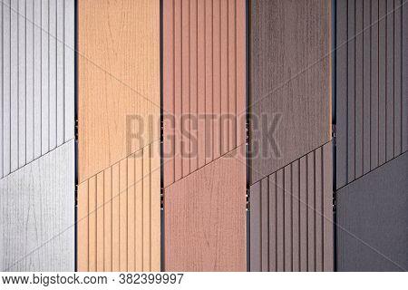 Close Up Of Vinyl Siding Samples Texture