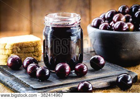 Jabuticaba (or Jaboticaba) Jelly, Brazilian Grape Native To The Atlantic Forest, And South America.
