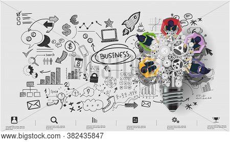 Businessman And Lady Brainstorm Brainstorm For Success Creativity  Idea And  Plan  Think Analyze Cre