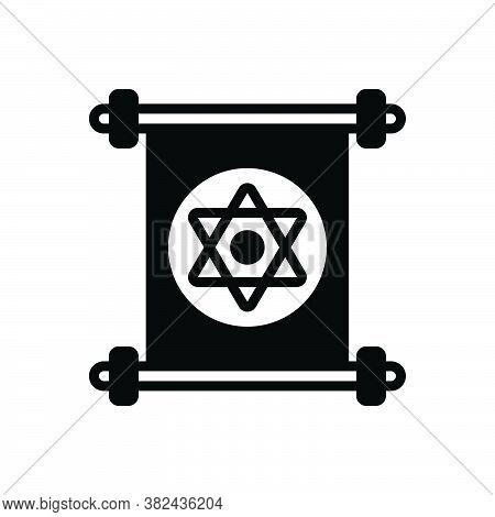 Black Solid Icon For Jewish Jew Hebrew Semitic Yiddish Sabra Star David Holy