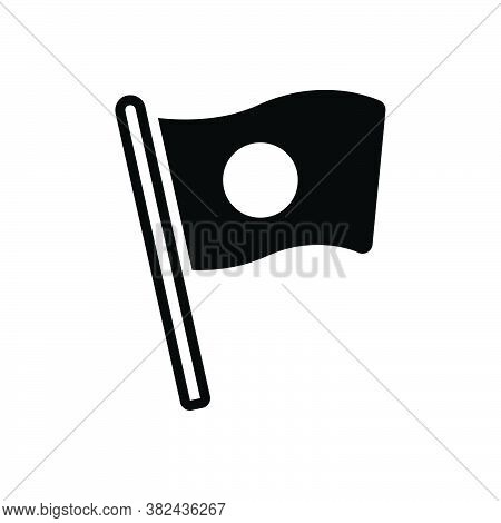 Black Solid Icon For National Vernacular Flag Native Nationwide Culture Country Federal Patriotic