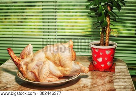 Chicken Without Feathers. A Semi-finished Product For A Dietary Dish. Bird Soup. Food Product Lies O