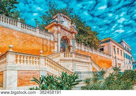Gardens Of Montecavallo (giardini Di Montecavallo) Near Quirinal Palace (palazzo Del Quirinale) On Q