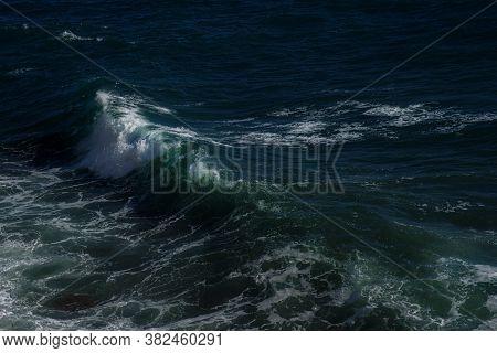 Ocean Wave Background Breaking Sea Water Rocky Shore