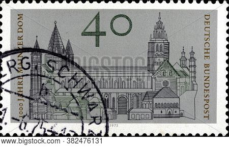 02 10 2020 Divnoe Stavropol Territory Russia The Postage Stamp Germany 1975 The 1000th Anniversary O