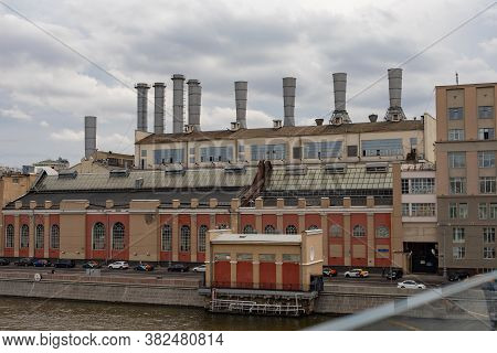 Moscow, Russia - August 24, 2020: Smidovich Hpp-1, The Oldest State Power Plant. The Hydroelectric P