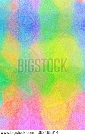Abstract Illustration Of Blue, Green, Yellow Color Pencil High Coverage Background.