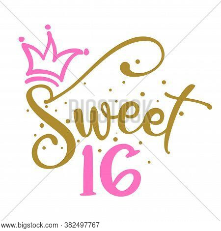 Sweet Sixteen (16th) Birthday Teenage Girl Year Anniversary. Princess Queen. Toppers For Birthday Ca
