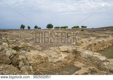 Pafos, Cyprus,roman Archeological Site Of Paphos. Ancient Civilization.