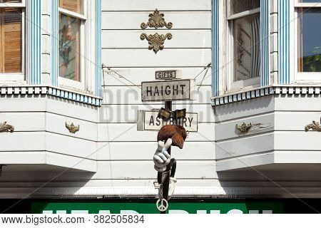 Haight-ashbury Neighborhood, San Francisco, California, United States - March 18, 2012: Close-up To
