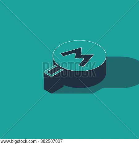 Isometric Metro Or Underground Or Subway Icon Isolated On Green Background. Vector