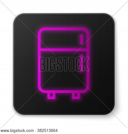 Paper Cut Refrigerator Icon Isolated On Red Background. Fridge Freezer Refrigerator. Household Tech