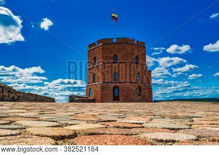 Gediminas Castle Tower. Historic Symbol Of The City Of Vilnius