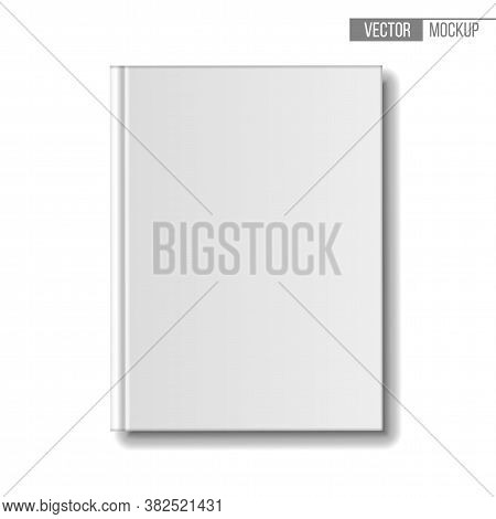 Blank Book Mockup, Top View. Template Books On White Background For Your Design And Presentation.