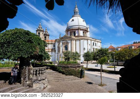 Braga, Portugal - August 22, 2020: Sanctuary Of Our Lady Of Sameiro (or Sanctuary Of Sameiro Or Imma