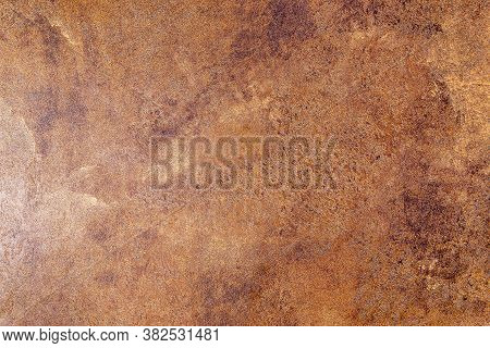 Natural Brown Leather Texture Background. Abstract Vintage Cowhide Leather Background Design.