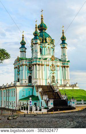 Beautiful St. Andrew's Church In Kiev, Ukraine