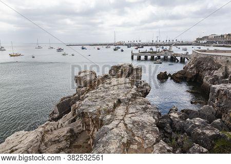 The Cascais Beach, Near Lisbon In Portugal