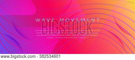 Bright Fluid Shape. Flow 3d Motion. Vivid Dynamic Lines. Digital Fluid Shape. Graphic Poster. Flow F