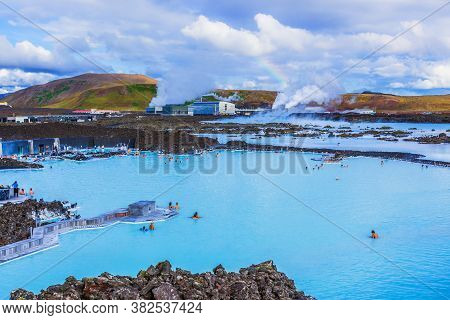Reykjavik, Iceland. The Blue Lagoon Geothermal Spa.