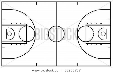 Basketball Court isolated
