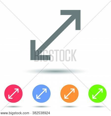 Enlarge Resize Icon Vector Logo With Isolated Background