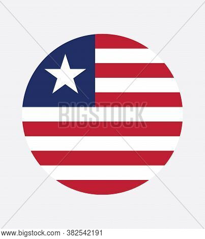 National Liberia Flag, Official Colors And Proportion Correctly. National Liberia Flag.