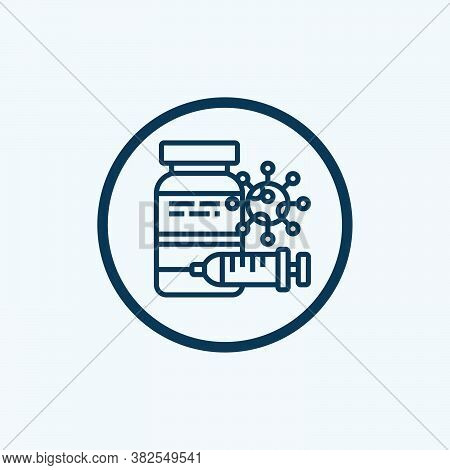 Vaccine Icon Isolated On White Background. Vaccine Icon Simple Sign. Vaccine Icon Trendy And Modern