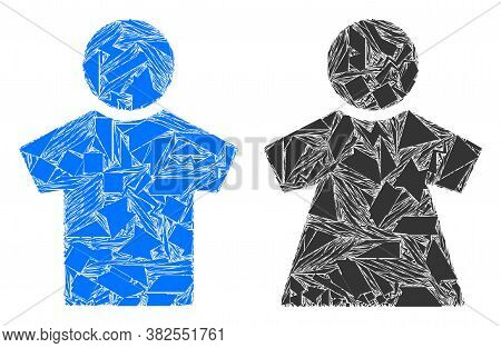 Debris Mosaic People Couple Icon. People Couple Collage Icon Of Debris Elements Which Have Variable