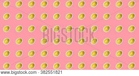 Pattern Of Fresh Vegetables Isolated On Creative Colored Texture