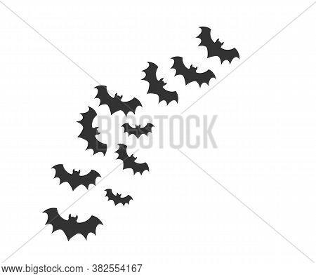 Halloween, Horror, Bat Icon. Vector Illustration, Flat Design.