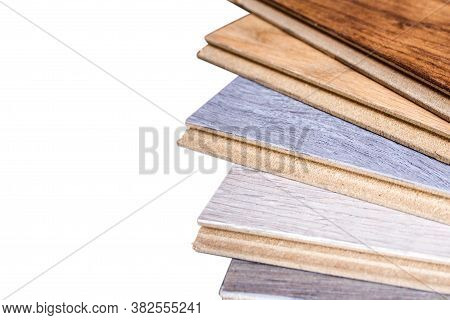 Laminate. Samples Of Laminate And Floorboard. Cutting And Laying Flooring.