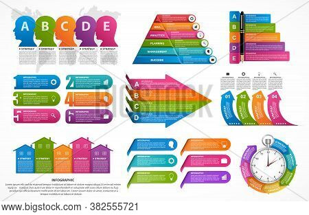 Infographic Elements Collection. Vector Design Elements. Infographics For Business Presentations Or