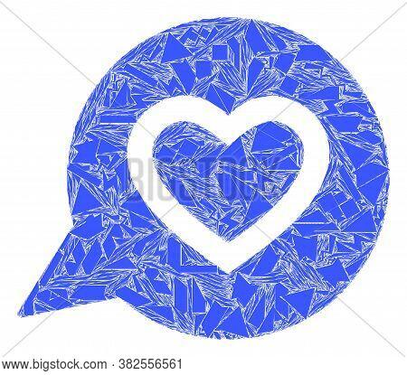Debris Mosaic Favourite Heart Message Icon. Favourite Heart Message Collage Icon Of Spall Elements W