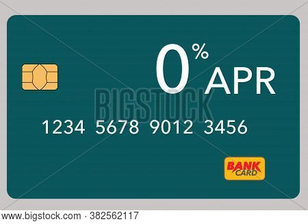Here Is A 0% Apr Credit Card Isolated On A Light Colored Background.