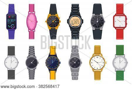 Modern Watches. Wristwatch, Unisex Time Chronograph, Smartwatch, Man Woman Modern And Fashion Wrist