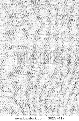 Knitted Tweed Texture Background - Black And White