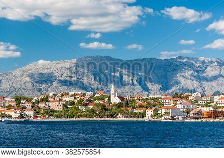Cityscape A Small Town Sumartin On The Island Of Brac, Sunny Day. Croatia.