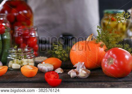 Metal Jar Sealer Tool Closeup. Lid Closer For Glass Preserves And Homemade Vegetables - Tomatoes, Pu