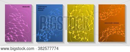 Fashionable Dj Party Flyers. Overlapping Curve Lines Torrent Backdrops. Abstract Title Page Vector T