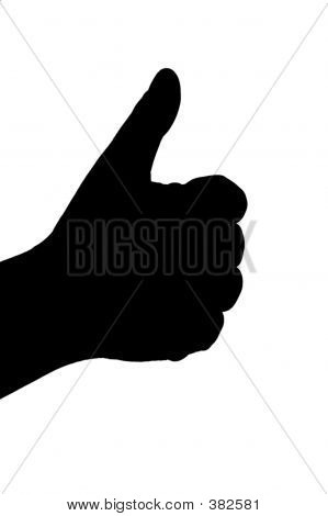 Hand Gesture Silhouette