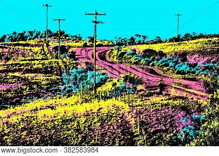 Dirt Road In A Rural Landscape Near Cambara Do Sul. A Small Town With Amazing Natural Tourist Attrac