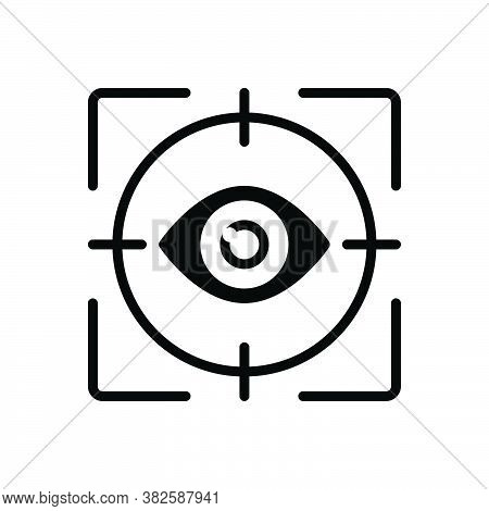 Black Solid Icon For Gaze Stare Ogle Inspection Look-up Gape-at Seeing Fish-eye Looking Look Peep Pe